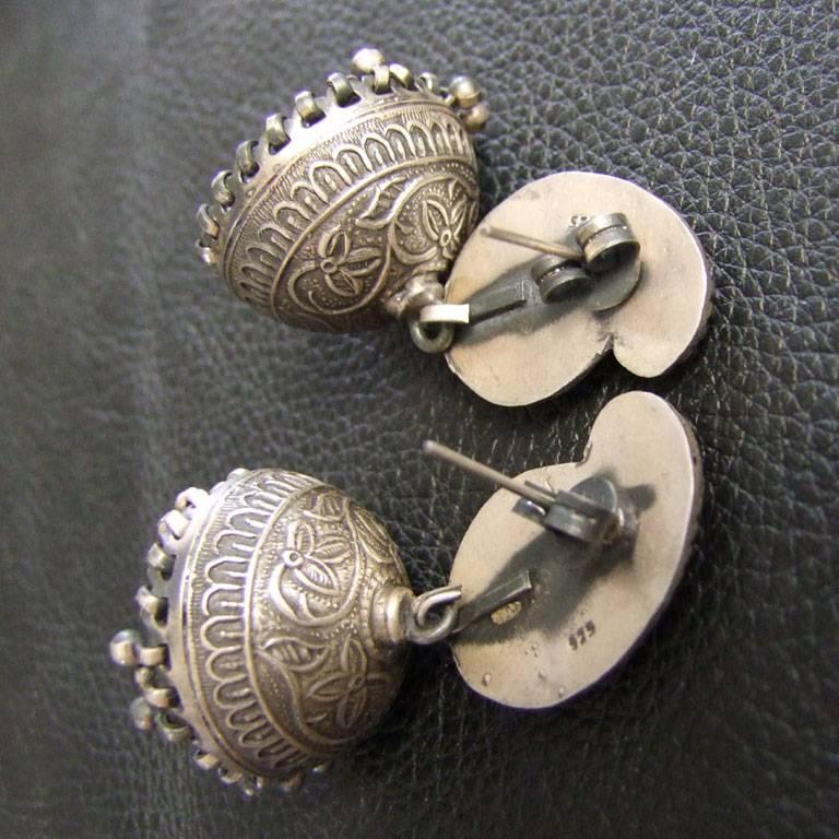 Silver Jhumka Earrings
