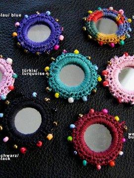 Spiegelchen 4 cm mit Perlen