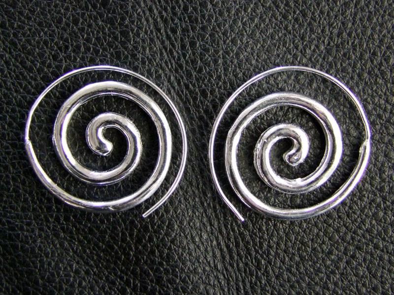 Tribal Neusilber Ohrringe