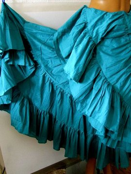 25 yards Tribalskirt turquoise/ teal