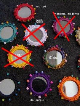 Spiegelchen 4,5 cm mit Perlen