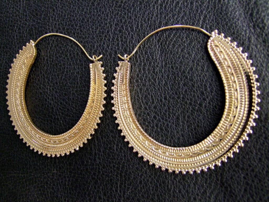 Messing Ohrringe *Afghan hoops*