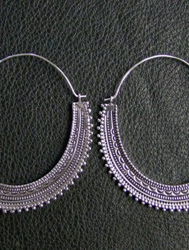 German silver *Afghan hoops*