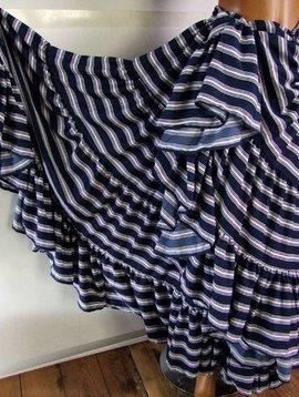 25 yards Blue & White stripes skirt deluxe