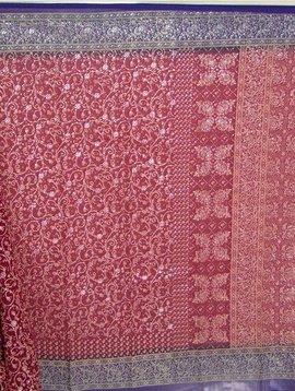 Jodha mharani Sari rot/ blau