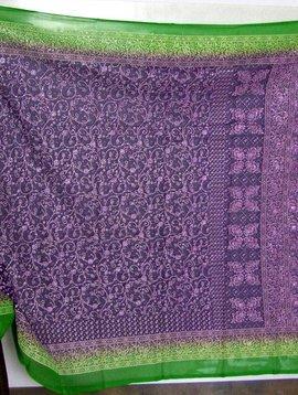 Jodha mharani Saree purple/ green