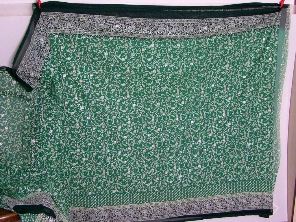 Jodha mharani Sari grün/ grün