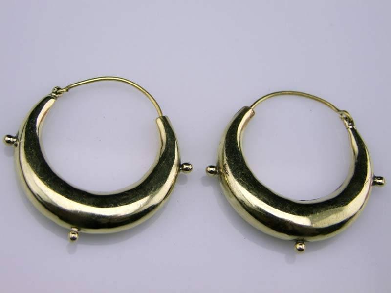 Tribal Brass Earrings