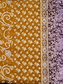Jodha mharani Saree mustard/ purple