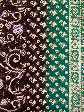 Jodha mharani Saree darkbrown/ green