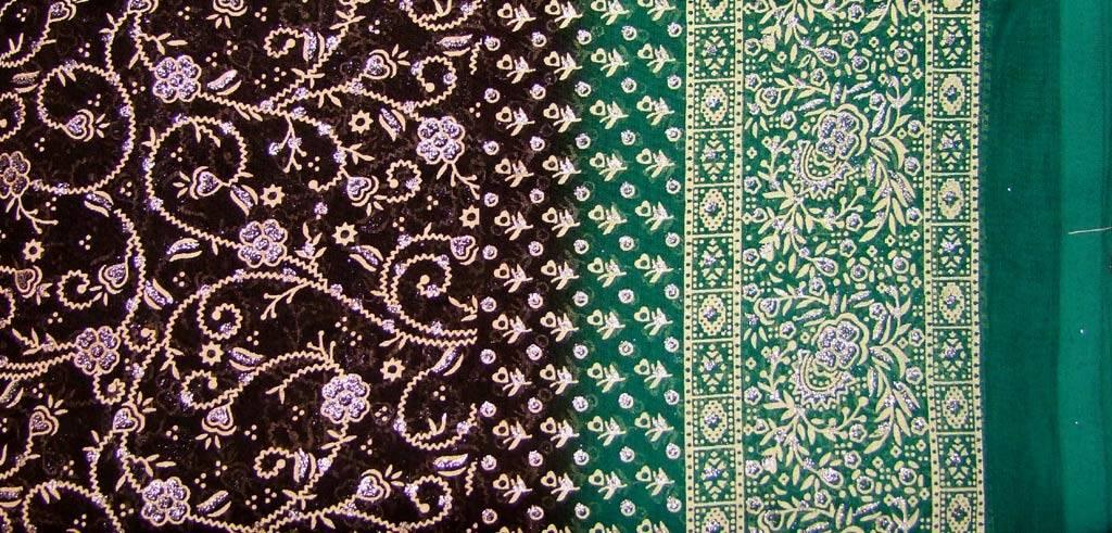 Jodha mharani Saree darkbrown/ green