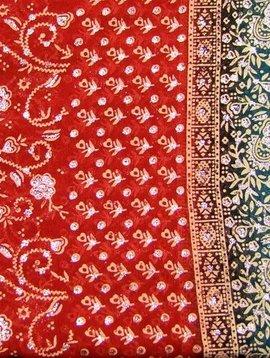 Jodha mharani Saree orange/ turquoise