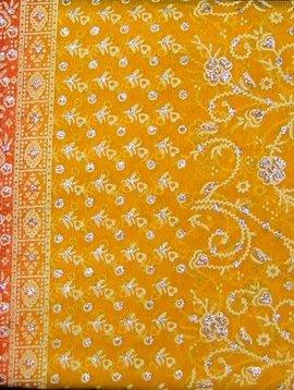 Jodha mharani Saree yellow/ red