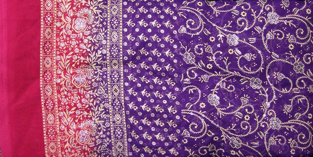 Jodha mharani Saree purple/ pink
