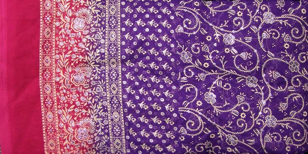 Jodha mharani Sari lila/ pink