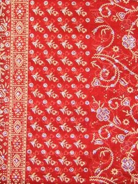 Jodha mharani Saree  orange/ burgundy