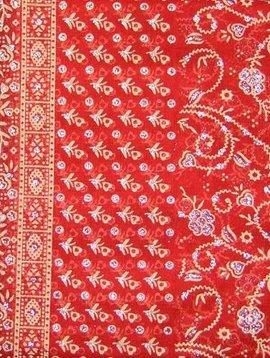 Jodha mharani Sari orange/ weinrot