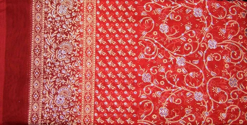 Jodha mharani Saree orange/ burgundy