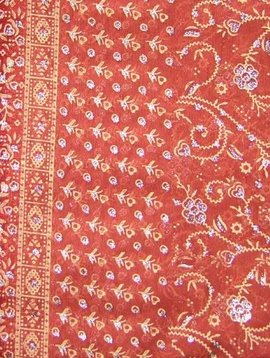 Jodha mharani Saree dull orange/ burgundy