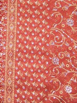 Jodha mharani Saree dull orange/ burgundy