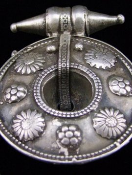 Old Silver Earring/ pendant from India