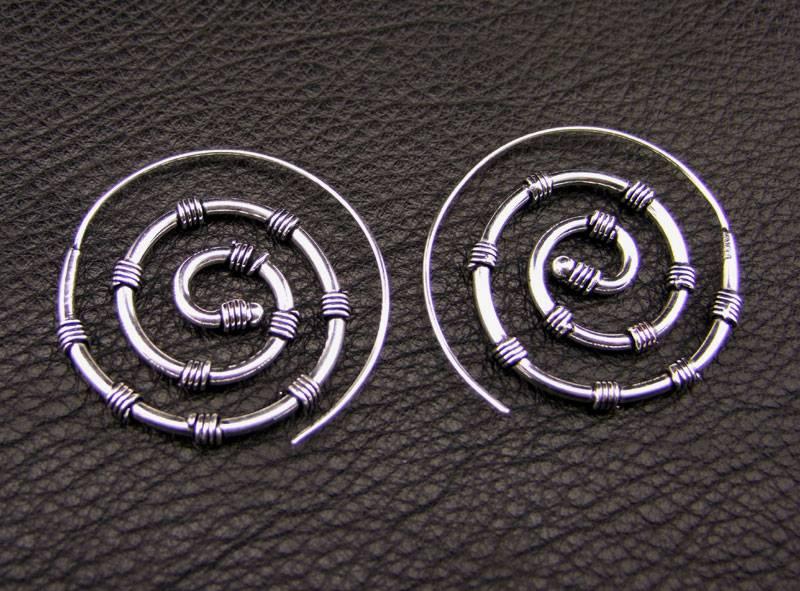 Tribal German Silver Earrings