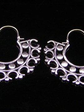 Neusilber Ohrringe