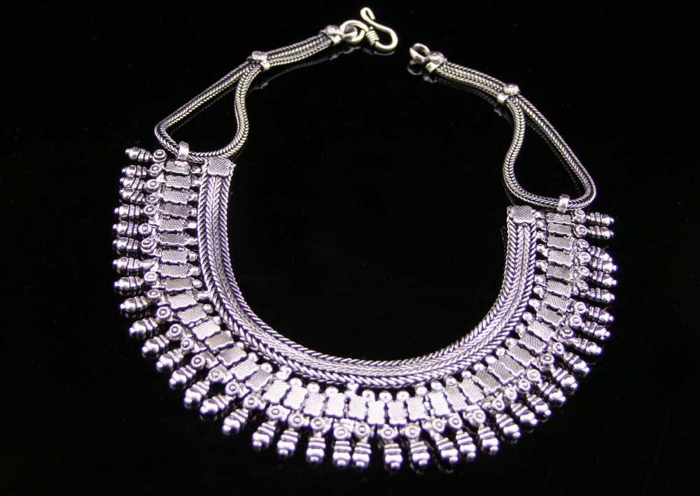 Tribal German silver necklace