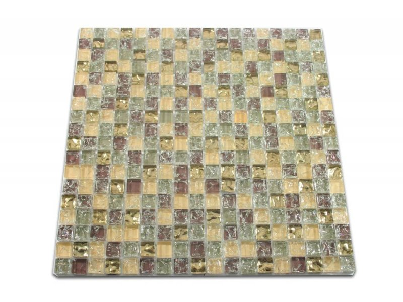 glasmosaik fliesen anlona beige grau gold braun mosaic outlet. Black Bedroom Furniture Sets. Home Design Ideas