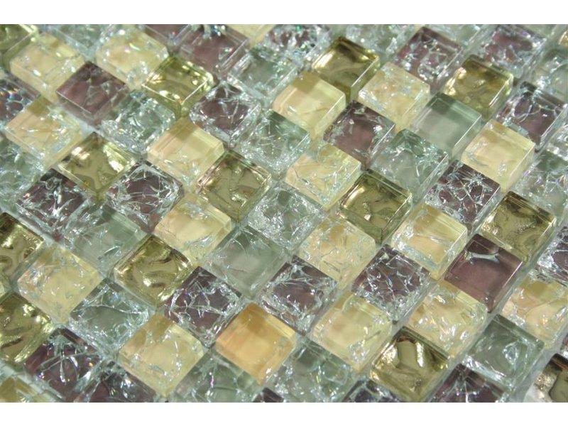 glasmosaik fliesen anlona beige grau gold braun mosaic outlet. Black Bedroom Furniture Sets. Home Design Ideas