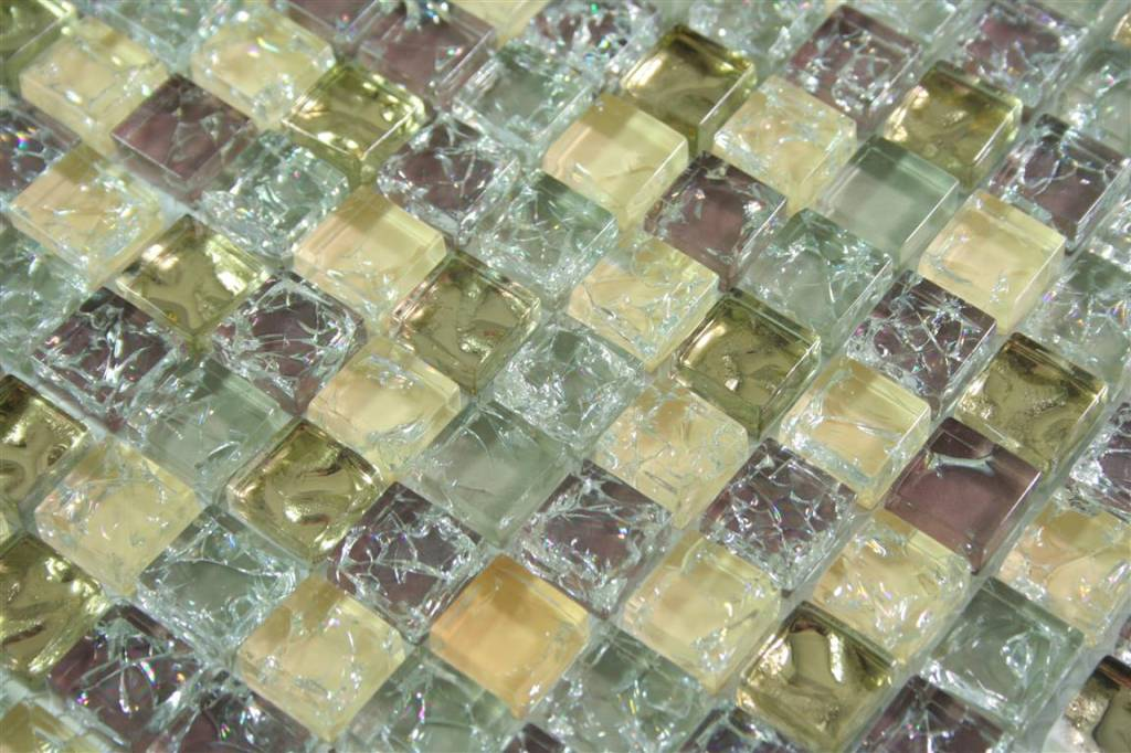 Glasmosaik Fliesen Anlona Beige Grau Gold Braun Mosaic