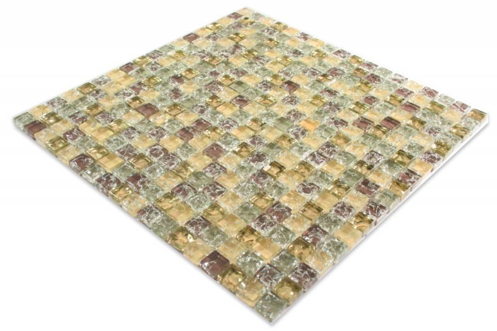 Glasmosaik Braun Gold : GLASMOSAIK FLIESEN - Anlona - beige / grau / gold / braun - Mosaic ...