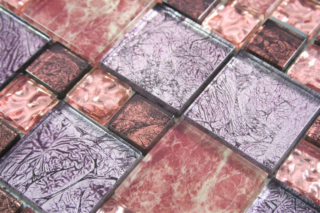 glasmosaik fliesen cap town lila braun rosa. Black Bedroom Furniture Sets. Home Design Ideas