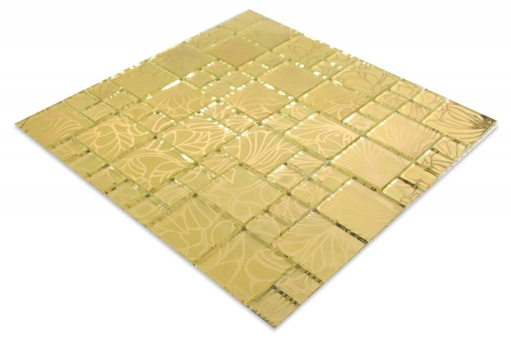 glasmosaik fliesen florianopolis gelbgold ebay. Black Bedroom Furniture Sets. Home Design Ideas