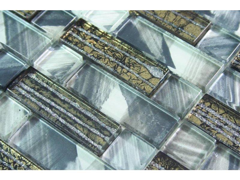 Glasmosaik Braun Gold : GLASMOSAIK FLIESEN - Jerusalem - grau / anthrazit / braun / gold ...