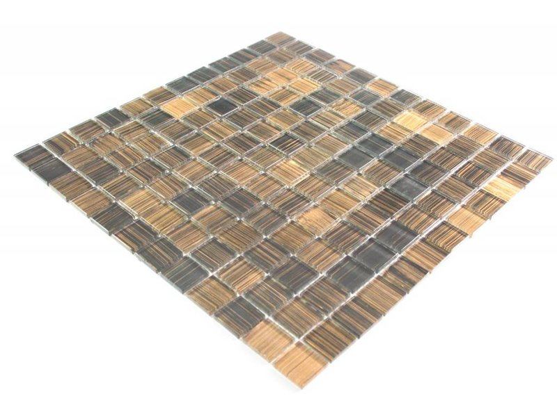 glasmosaik fliesen konar schwarz braun mix mosaic. Black Bedroom Furniture Sets. Home Design Ideas