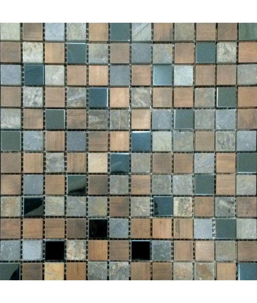 Mosaikfliesen  Mosaikfliesen im Mix mit Glas Metall Muschel und Keramik - Mosaic ...