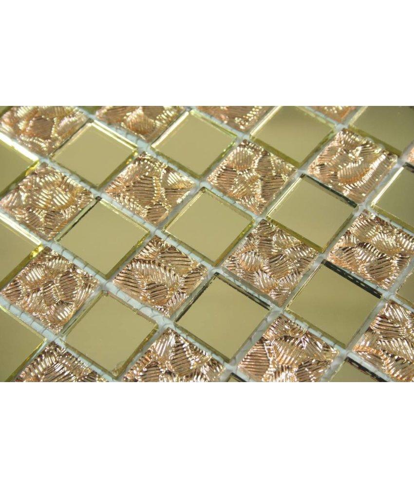 Ansehen GLASMOSAIK FLIESEN   Philadelphia   Spiegel Gold / Gold / Glitzer