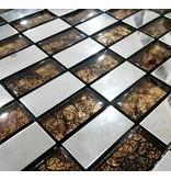 Mosaikfliesen texas glas edelstahl braun silber mosaic outlet - Mosaikfliesen silber ...