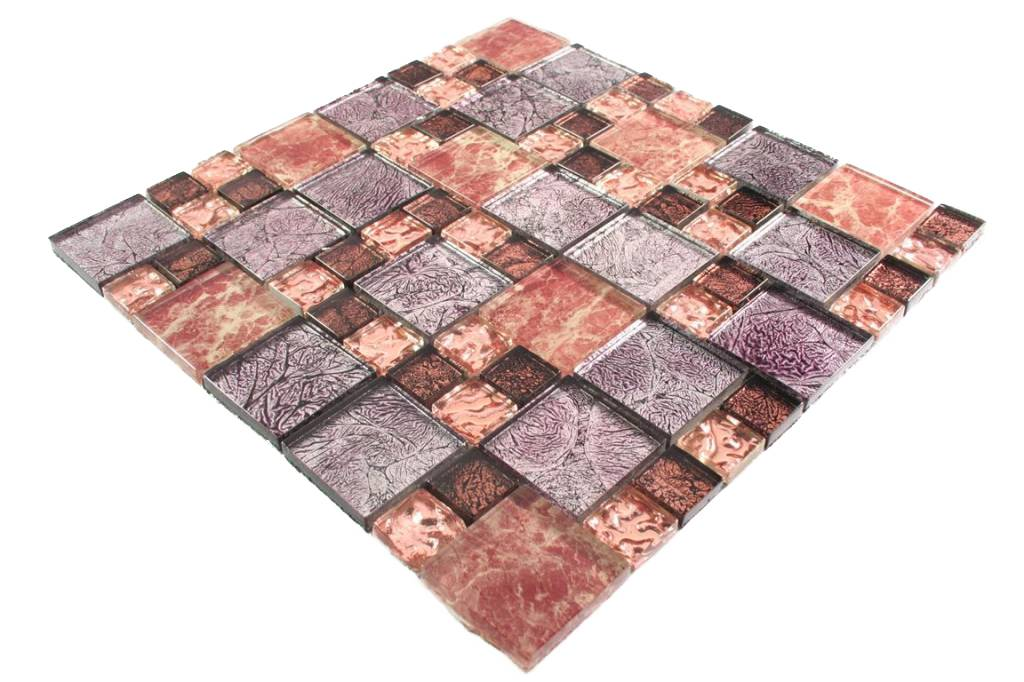 glasmosaik fliesen cap town lila braun rosa perlmutt. Black Bedroom Furniture Sets. Home Design Ideas