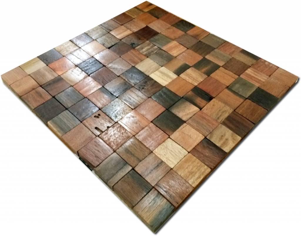 holz mosaikfliesen oslo antik holz braun mix mosaic outlet. Black Bedroom Furniture Sets. Home Design Ideas