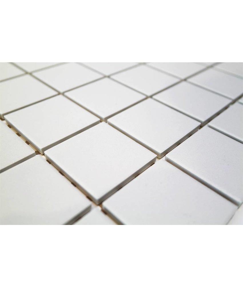 Keramik Mosaikfliesn UG-5020 Grip super weiß