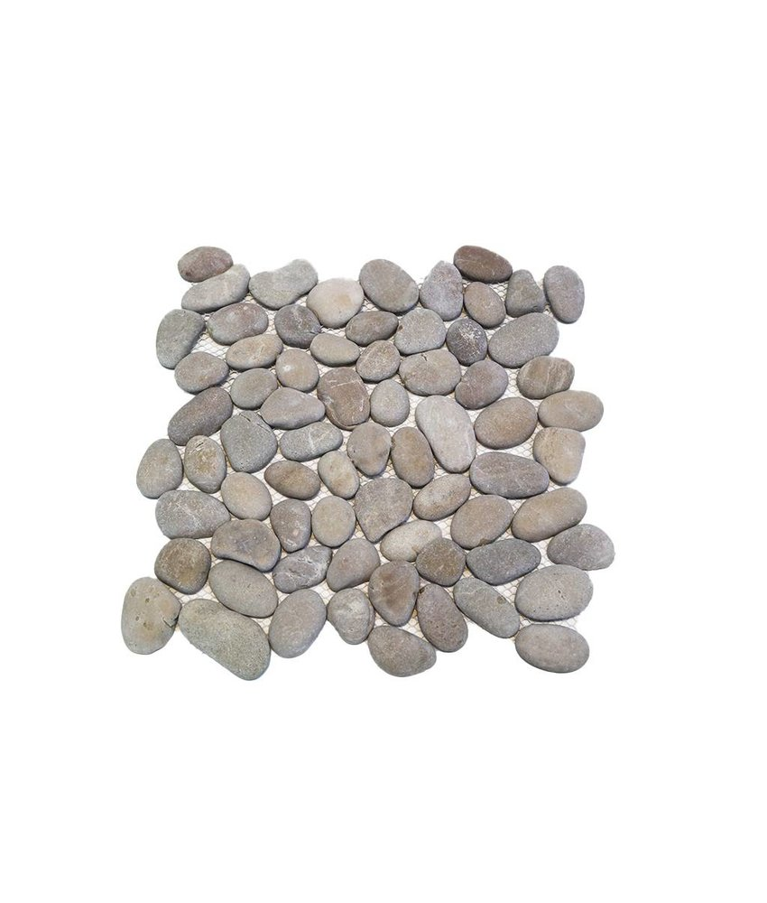 Natursteinfliesen PM-0004 Pebble middle grey