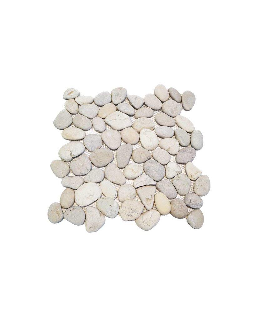 Natursteinfliesen PM-0001 Pebble white