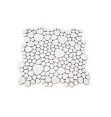 BÄRWOLF Keramik Mosaikfliesen KIESEL-250 Ceramic Pebble lucent white