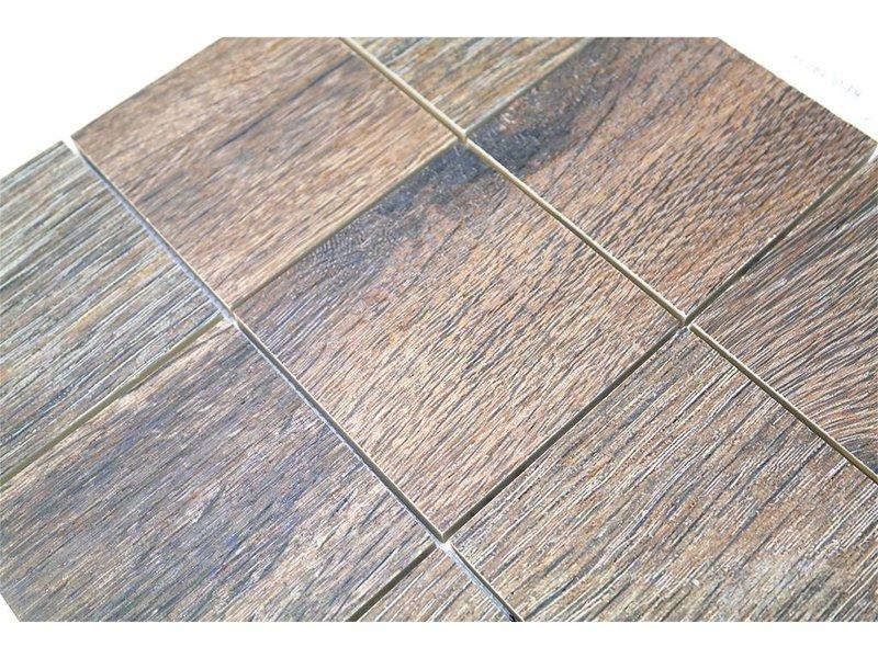 BÄRWOLF Keramik Mosaikfliesen KEG-14034 Wood eichenholz-farben