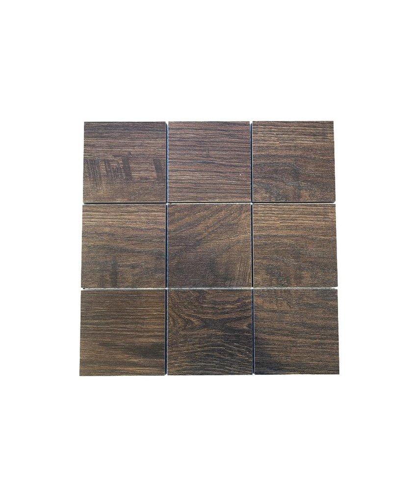 Keramik Mosaikfliesen KEG-14032 Wood eichenholz-braun