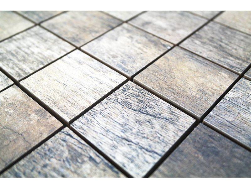 BÄRWOLF Keramik Mosaikfliesen KEG Vintage Grau Mosaic Outlet - Mosaik fliesen outlet