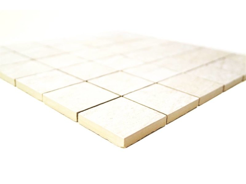 BÄRWOLF Keramik Mosaikfliesen KEG-14011 Stone quarzite white