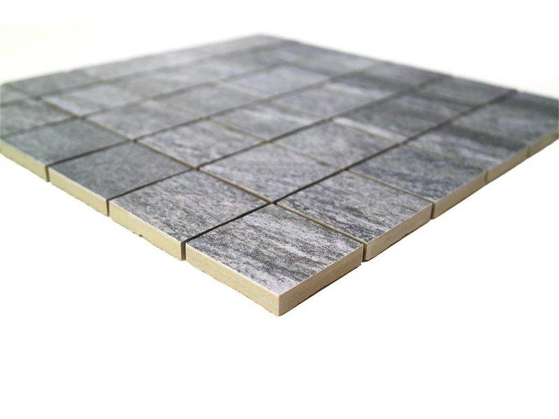 BÄRWOLF Keramik Mosaikfliesen KEG-14010 Stone quarzite grau